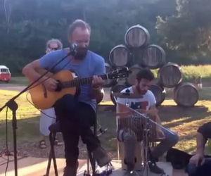 Sting prende la chitarra e suona nella sua tenuta in Toscana