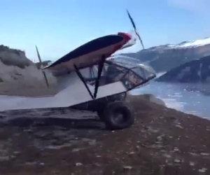 Un decollo molto rischioso