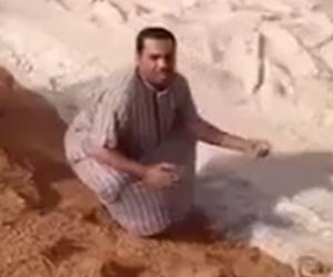 Uno strano fiume scorre nei deserti dell'Arabia Saudita