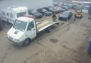 Auto sul camion fail