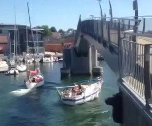 Distruggere una barca a vela