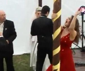 Ragazza ubriaca rovina un matrimonio
