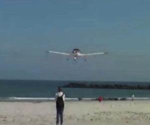 Aereo atterra quasi sulla sabbia
