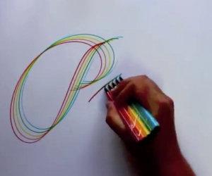 Disegna con quattro pennarelli, il risultato è impressionante