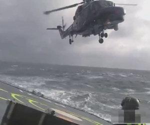 Atterrare con il mare in tempesta