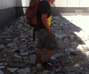 Camminare su un lago di rocce