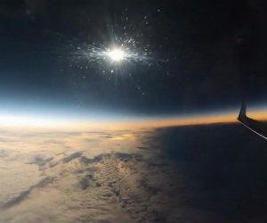 L'ombra della Luna durante la spettacolare eclissi solare del 2015