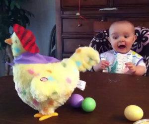Epica reazione di un bambino
