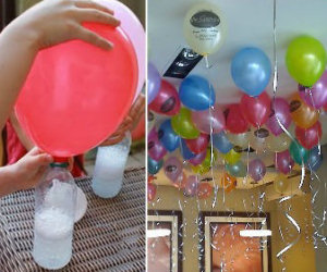 Un trucco per far volare i palloncini senza usare l'elio
