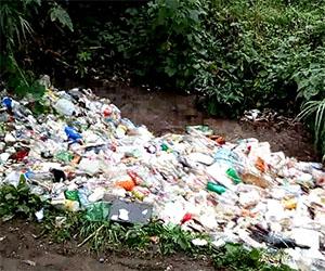 Un inquietante fiume di plastica in Guatemala