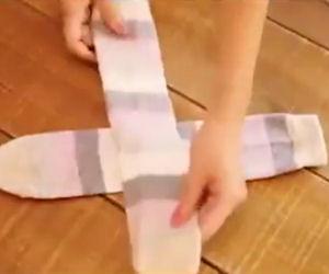 Esiste un modo perfetto per piegare i calzini, eccolo!