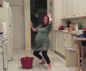 Una donna incinta di 9 mesi balla, ad un certo punto succede qualcosa...