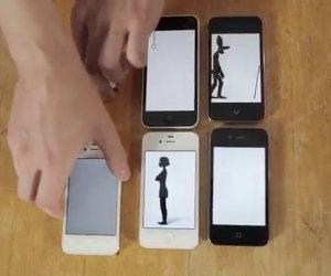 Bella animazione con gli smartphone