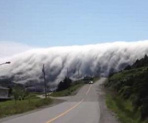 Incredibile banco di nebbia