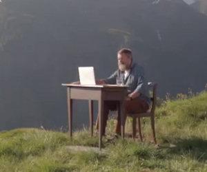 La geniale pubblicità di un paesino sulle montagne svizzere