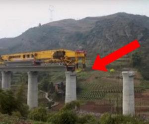 Ecco una gigantesca macchina in grado di costruire i ponti