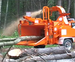 La macchina che polverizza gli alberi