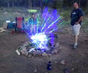 Luci da campeggio laser