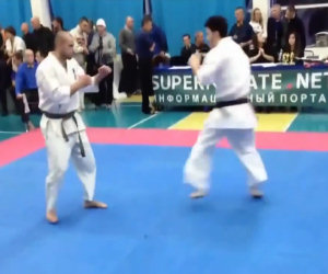 Match di karate di 3 secondi