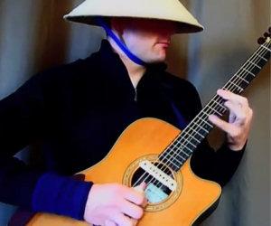 Musica techno con la chitarra