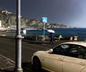Pioggia di pietre in Sicilia