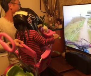 Questo papà realizza un oculus artigianale per la figlia