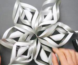 Come trasformare un foglio di carta in un fiocco di neve 3D