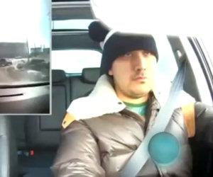 Reazione di un russo al meteorite