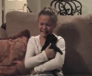 Questa bambina riceve il cucciolo che ha sempre sognato