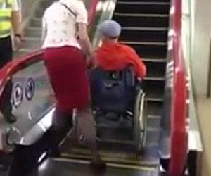 In Giappone hanno risolto così il problema delle scale mobili per i disabili