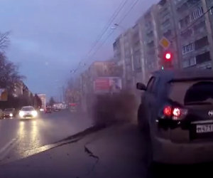 Strada esplode in Russia