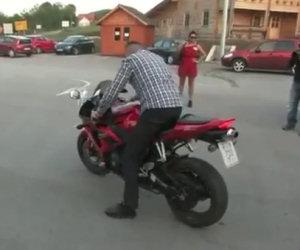 Un imbranato sulla moto
