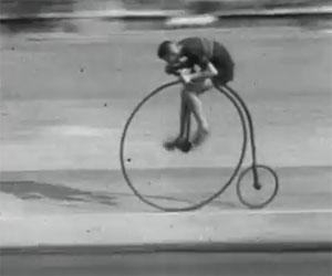 Godetevi questa gara di inizi '900 in sella ad incredibili velocipedi