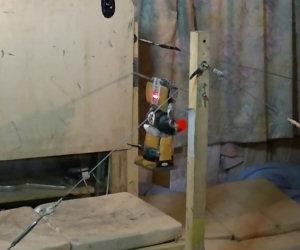 Robot fa un quadruplo salto mortale