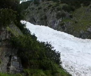 Un incredibile fiume di neve
