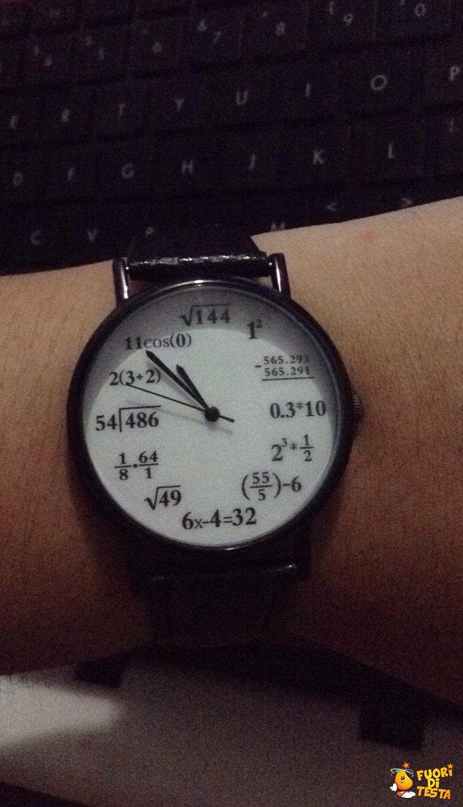 Orologio per matematici