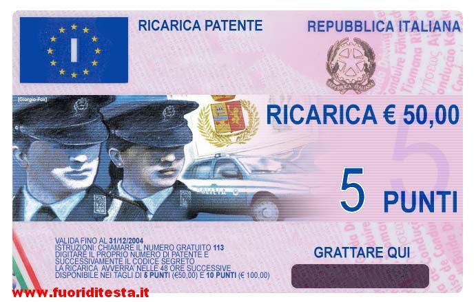 Ricarica patente
