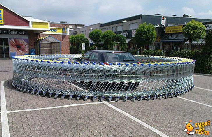 Scherzi bastardi al supermercato