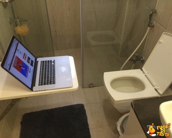Il bagno di un vero nerd
