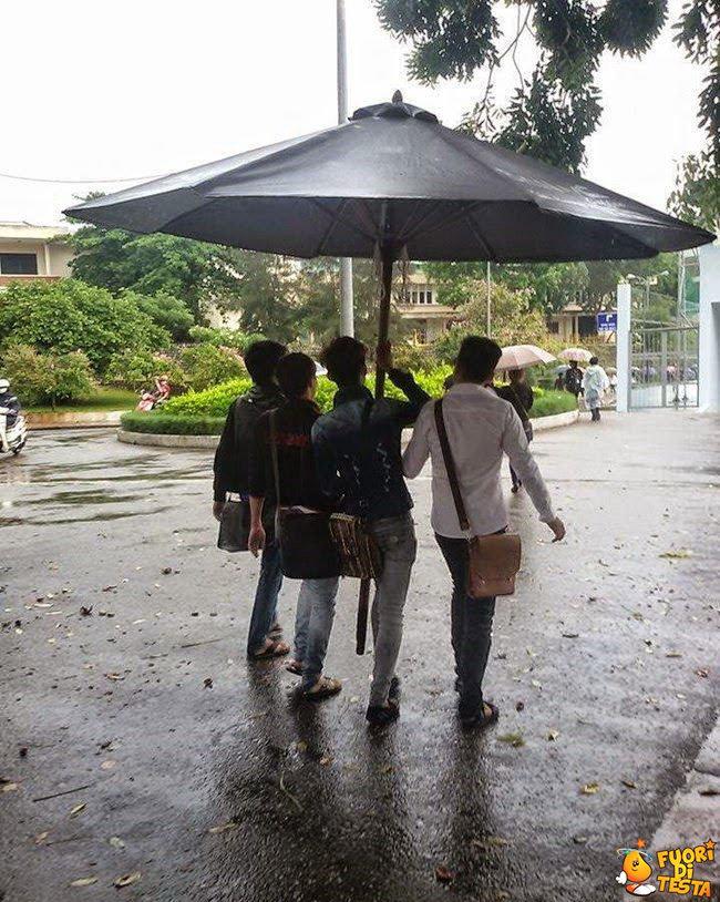Ecco un ombrello familiare