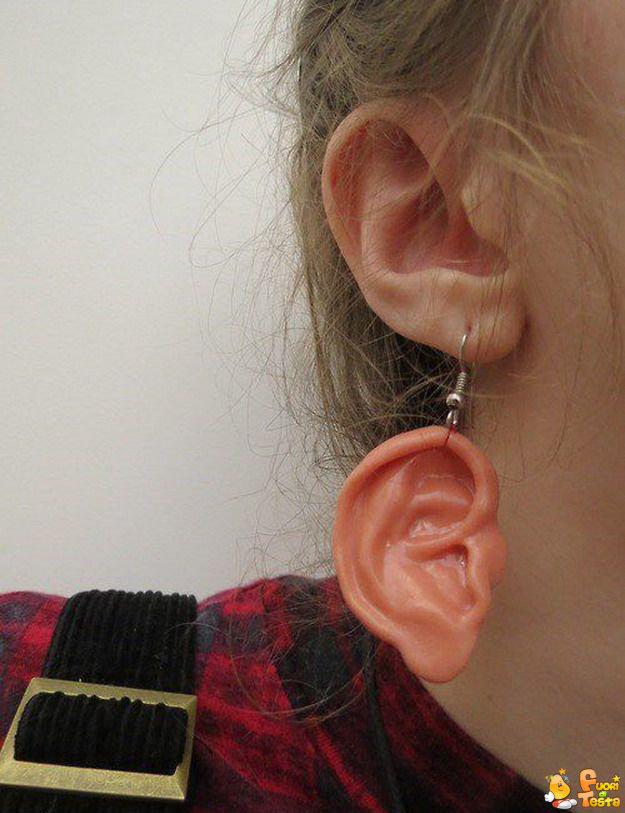 Un orecchino molto originale
