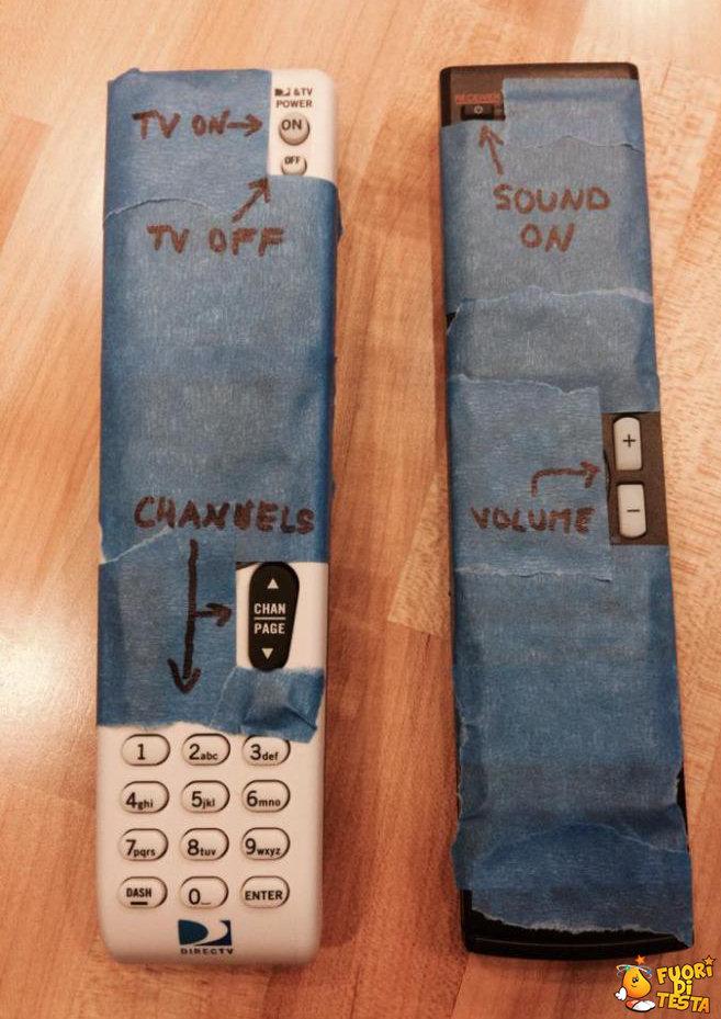Una modifica al telecomando