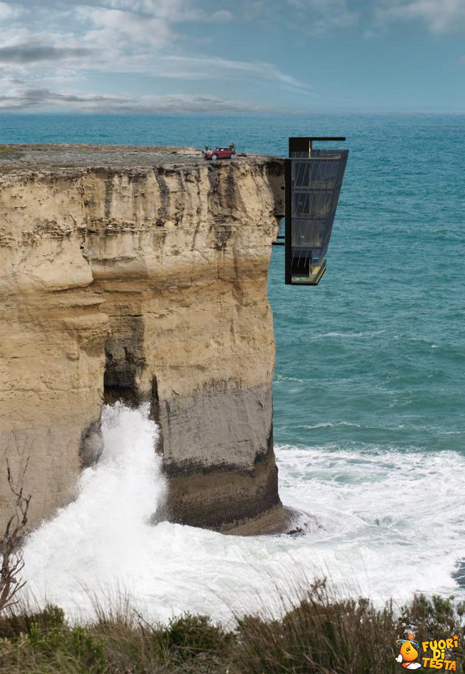 La casa sospesa sulla roccia