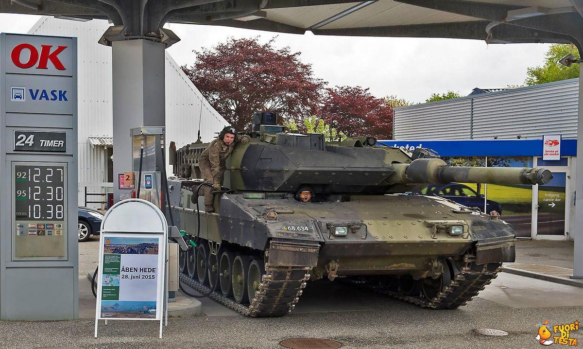 Anche i carri armati fanno benzina