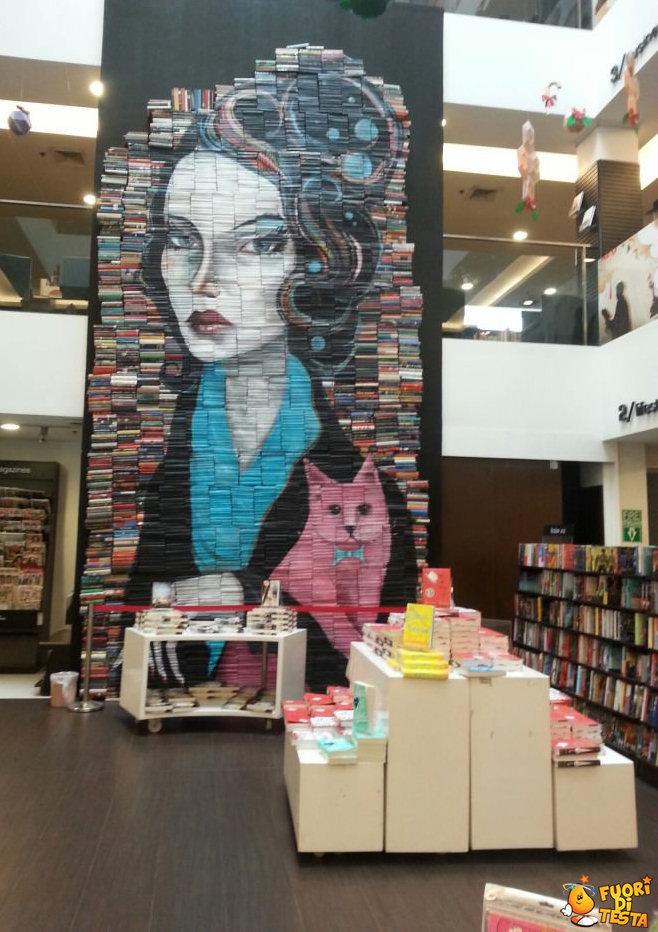 Arte realizzata con i libri