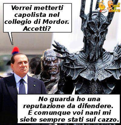 Berlusconi e Sauron