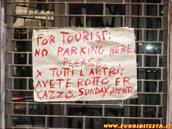 For tourist
