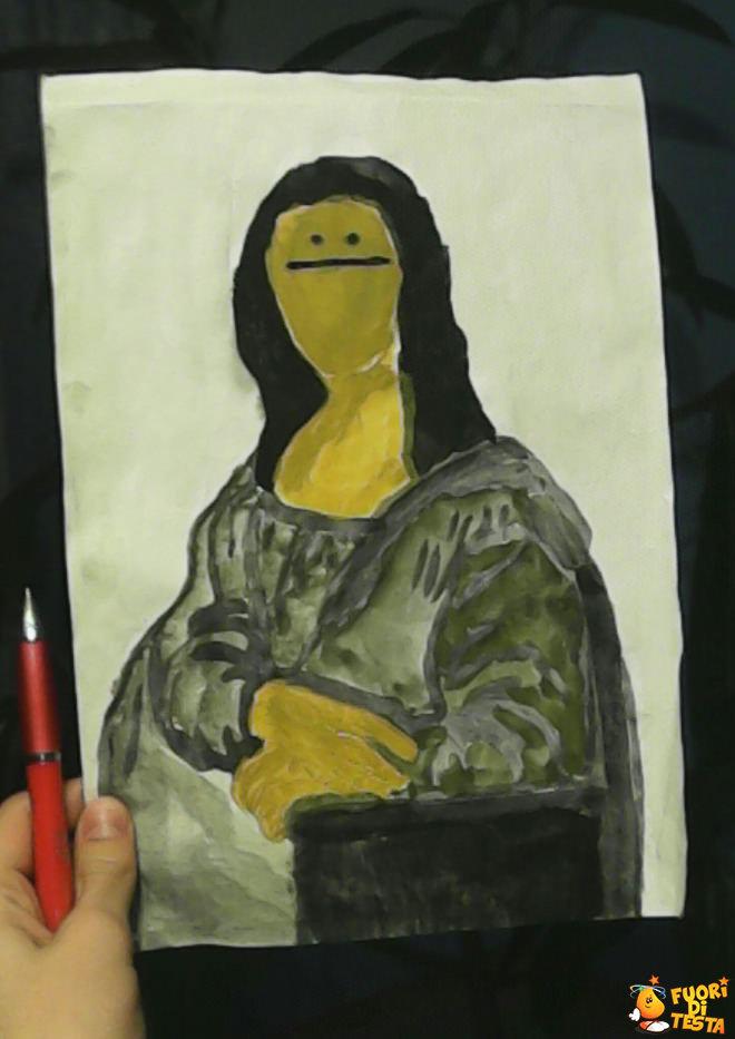 Ho provato a disegnare la Monnalisa