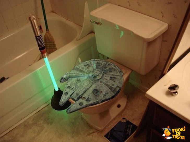 Il bagno di un vero Jedi