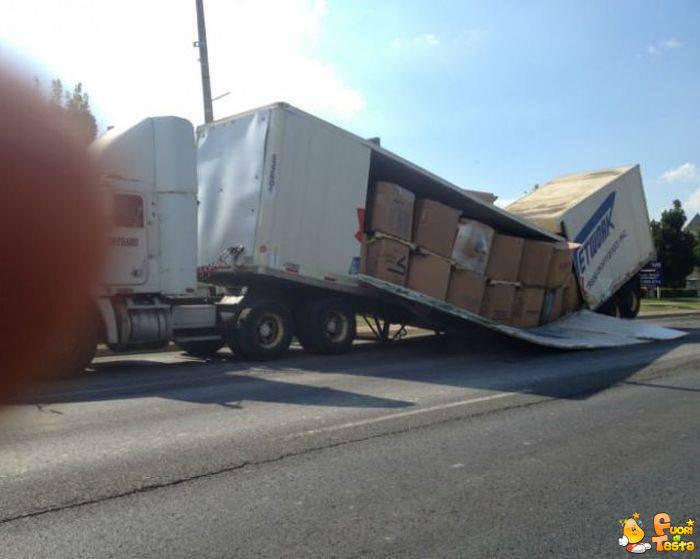 Il carico era troppo pesante